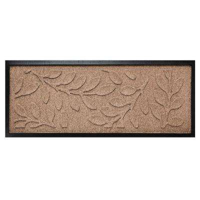 Medium Brown 15 in. x 36 in. Brittany Leaf Boot Tray