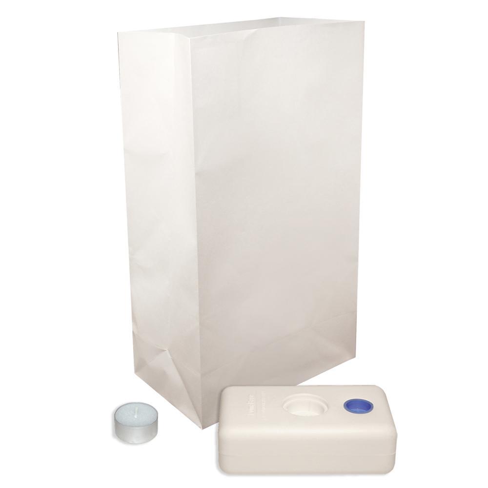 Lumabase Candle Luminaria Kit in Traditional White (set of 12)