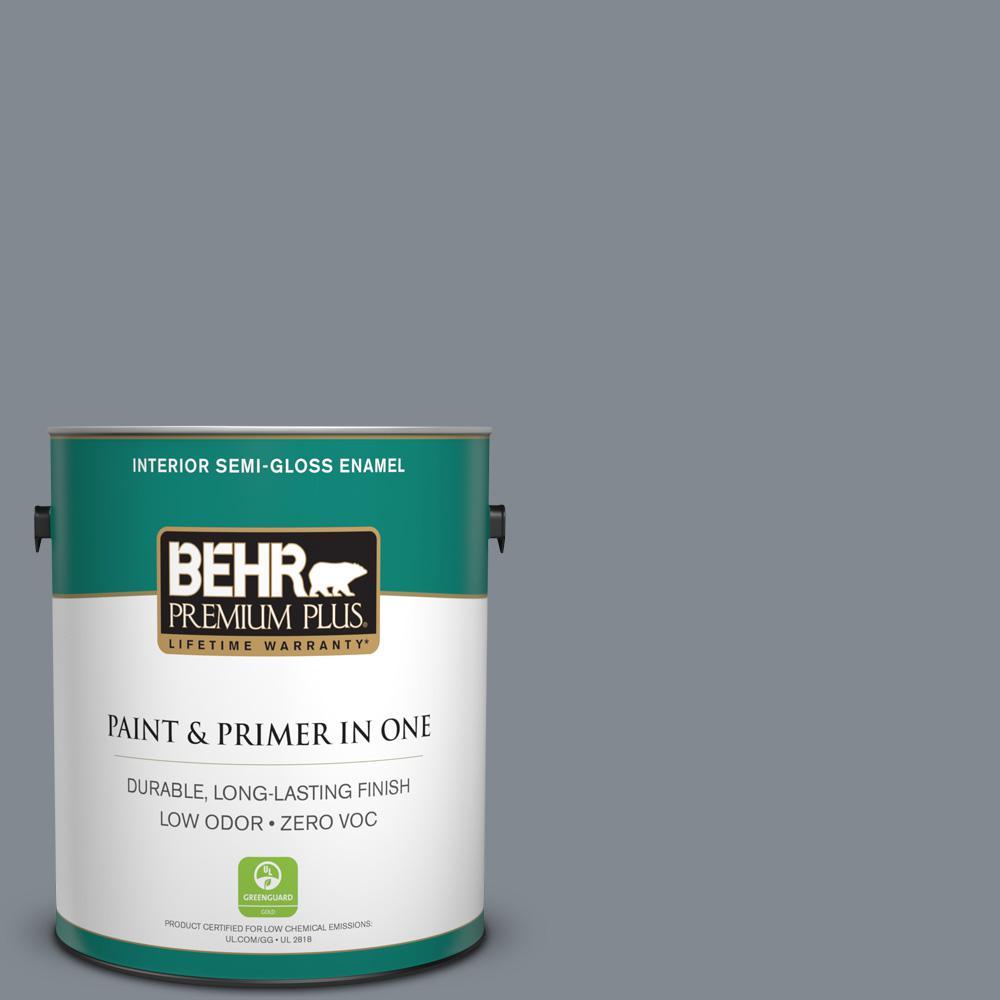 1 gal. #PPU26-21 Overcast Zero VOC Semi-Gloss Enamel Interior Paint