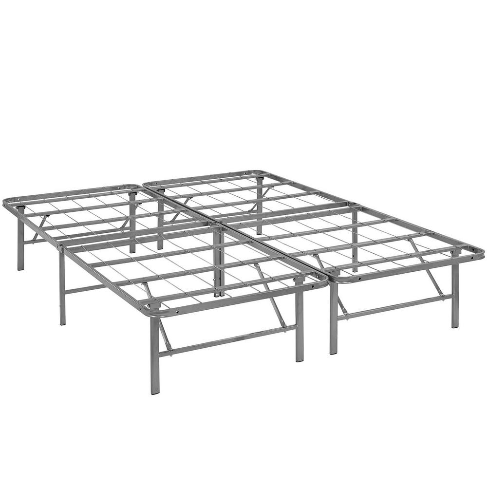MODWAY Horizon Silver Full Stainless Steel Bed Frame-MOD-5428-SLV ...