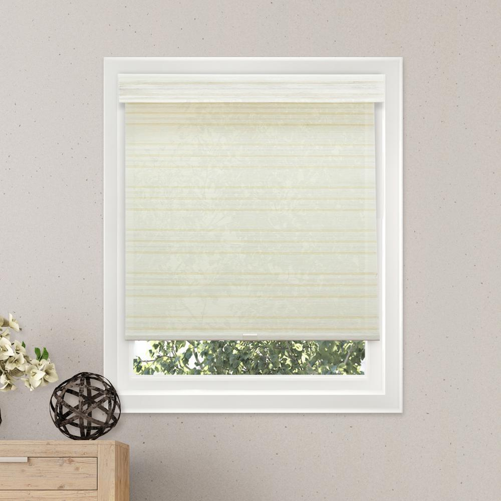 Chicology 31 in. W x  72 in. L Cabana Sand  Natural Woven Horizontal Roller Shade