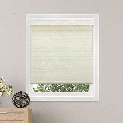 36 in. W x  72 in. L Cabana Sand  Natural Woven Horizontal Roller Shade