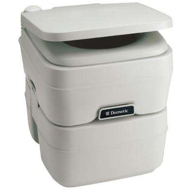 5.0 Gal. SaniPottie Portable Toilet with Mounting Brackets and 1.5 in. MSD Fittings in White