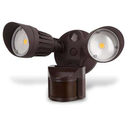 Security Light 20-Watt 180-Degree Bronze Motion Activated Outdoor Integrated LED Flood Light