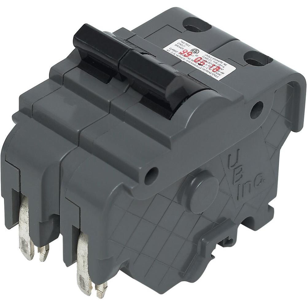 New UBIF Thick 20 Amp 2 in 2-Pole Federal Pacific Stab-Lok Type NA Replacement