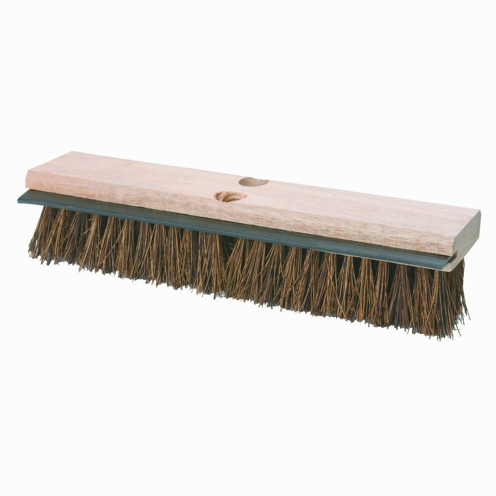 Carlisle 14 in. Palmyra with Squeegee Deck Scrub Brush (Case of 12)