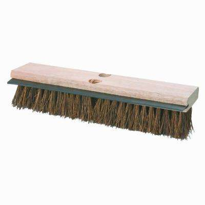 14 in. Palmyra with Squeegee Deck Scrub Brush (Case of 12)