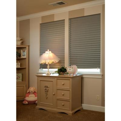 Cut-to-Size Gray Cordless Room Darkening Easy to Install Temporary Shades 36 in. W x 72