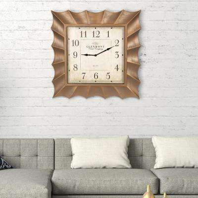 Scallop Gold Wall Clock
