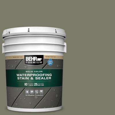 5 gal. #SC-138 Sagebrush Green Solid Color Waterproofing Exterior Wood Stain and Sealer