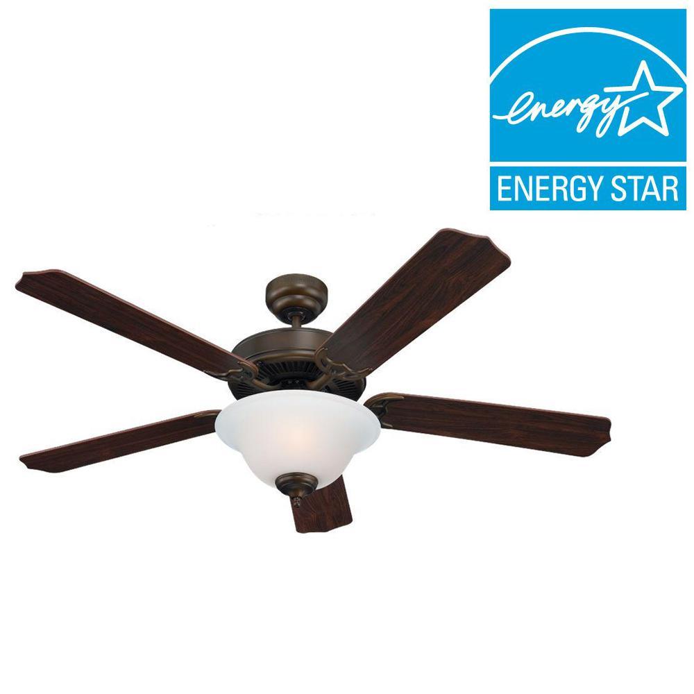 Quality Max Plus 52 in. Russet Bronze Indoor Ceiling Fan