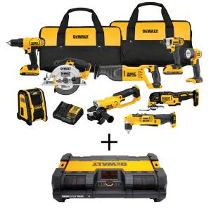 Dewalt 20-Volt MAX Lithium-Ion Cordless Combo Kit (9-Tool) with Bonus Tough System Radio by DEWALT