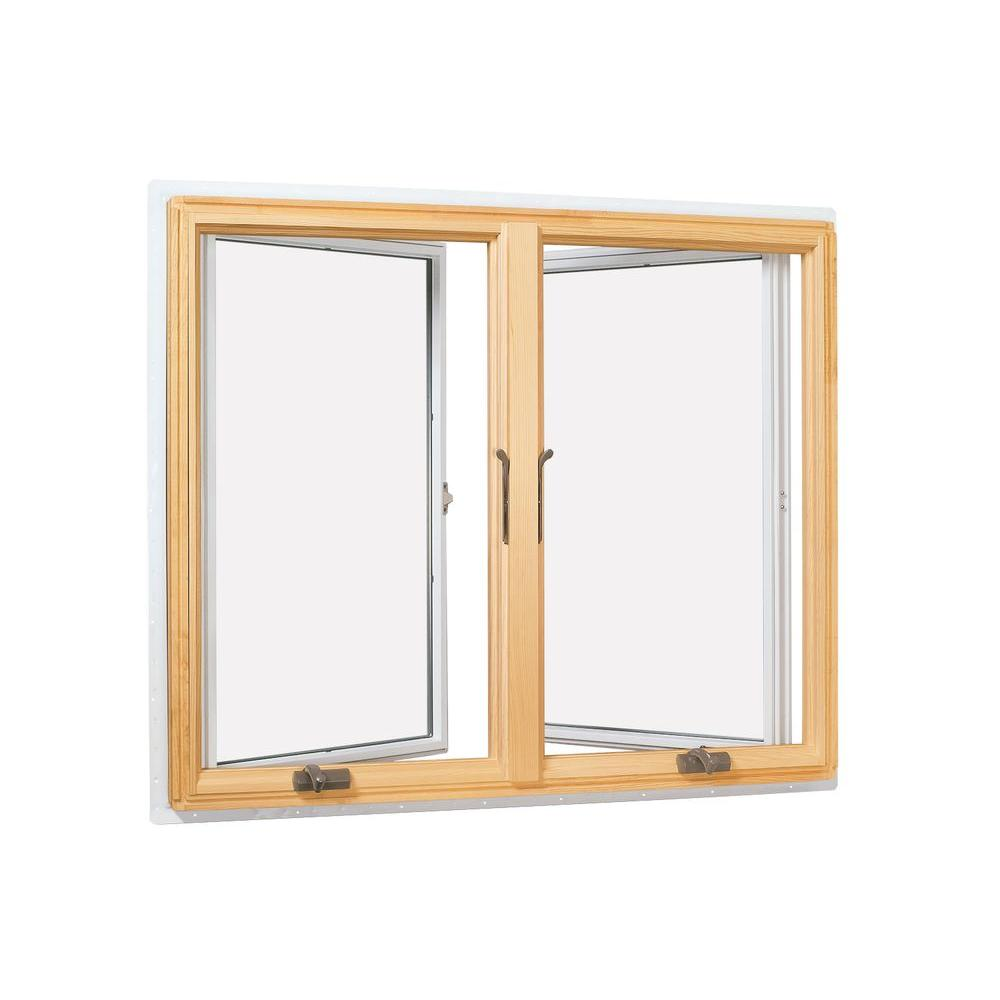 33.75 in. x 35.938 in. 400 Series Casement Wood Window with