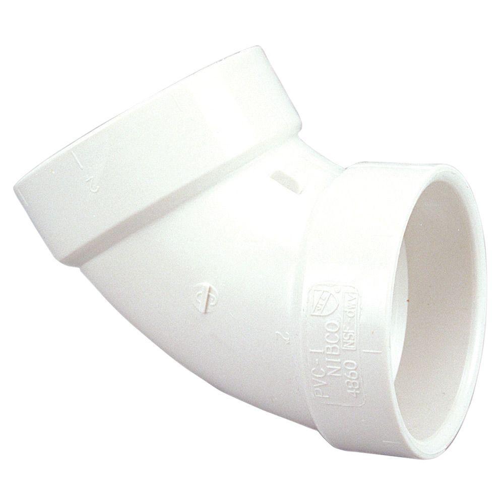 3 in. PVC DWV 60-Degree Hub x Hub Elbow Fitting