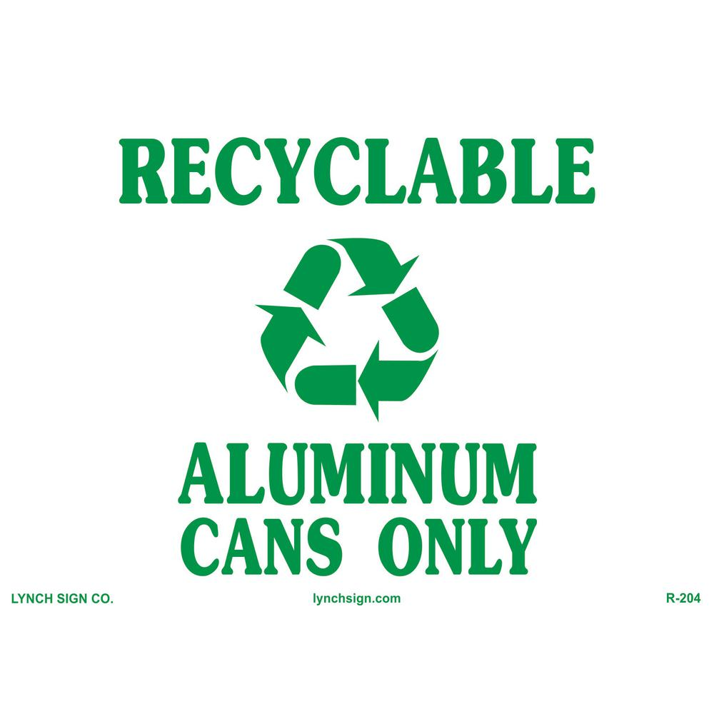 Lynch Sign Co. 14 in. x 10 in. Cans Only Recycling Sign Printed on More Durable, Thicker, Longer Lasting Styrene Plastic