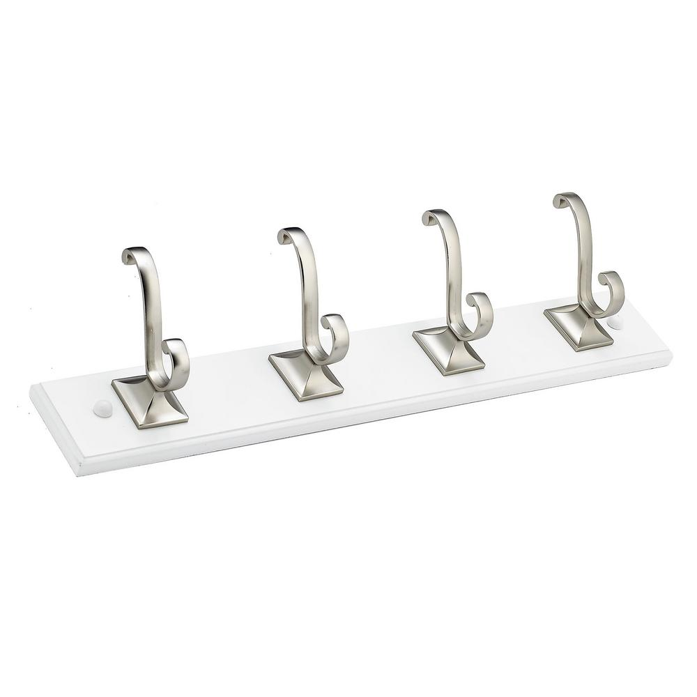 18 in. (457 mm) White Transitional Hook Rack