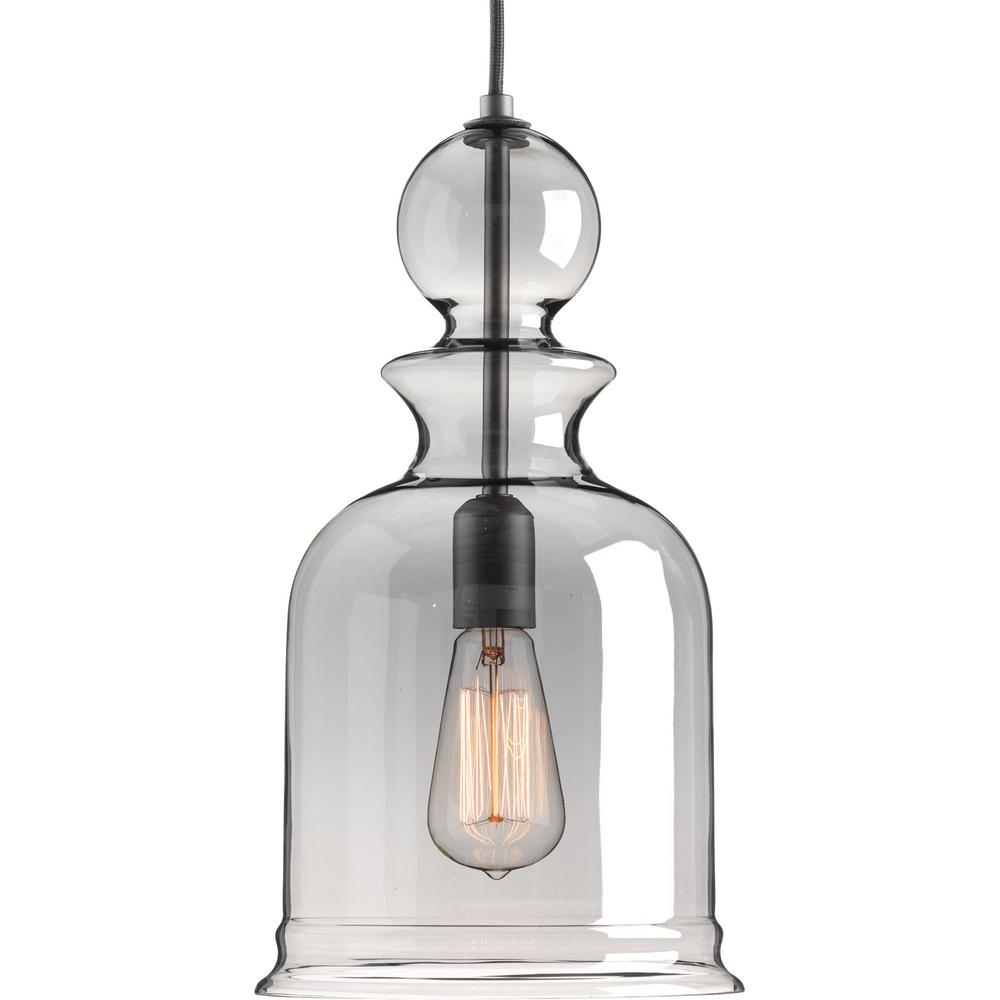 lighting pendants glass. Progress Lighting Staunton Collection 1-Light Graphite Pendant With Smoke  Glass Lighting Pendants Glass