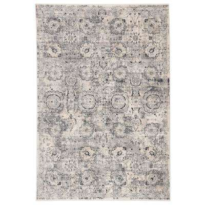 Samaya Power Loomed Gray/Ivory 8 ft. 10 in. x 11 ft. 10 in. Oriental Area Rug