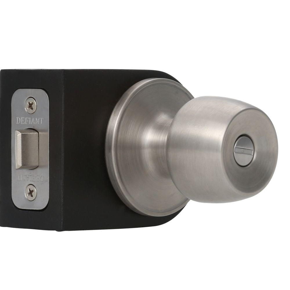 Defiant Brandywine Stainless Steel Privacy Bed/Bath Door Knob-T8610 ...