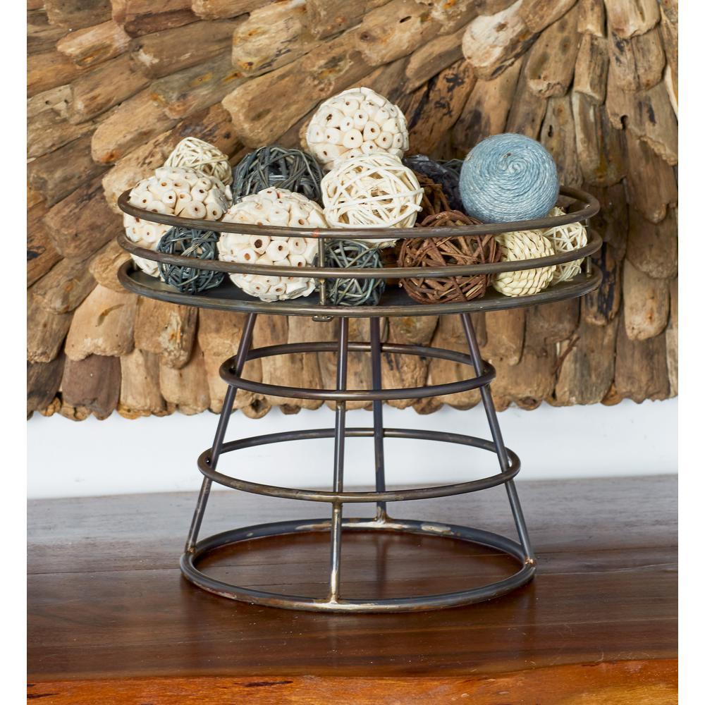 Litton Lane Metallics Decorative Tray Stand