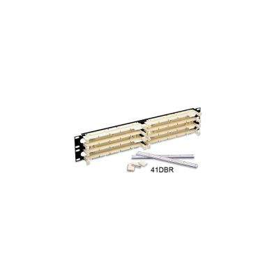 Cat 5e 110-Style Wiring Block Kit Rack Mount 3RU with C-5 Connector Clips, Ivory (300-Pair)