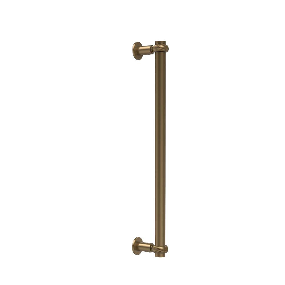 Allied Brass Contemporary 18 in. Back to Back Shower Door Pull in Brushed Bronze