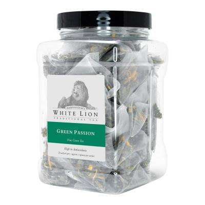Tea Green Passion Bulk 25 Sachets Retail Canister Tea Bags Sachets (25 per Pack)