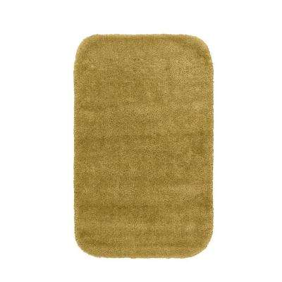 Traditional Linen 24 in. x 40 in. Washable Bathroom Accent Rug