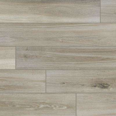 QuicTile 6 in. x 36 in. River Wood Glazed Porcelain Locking Floor Tile (10.15 sq. ft. / case)