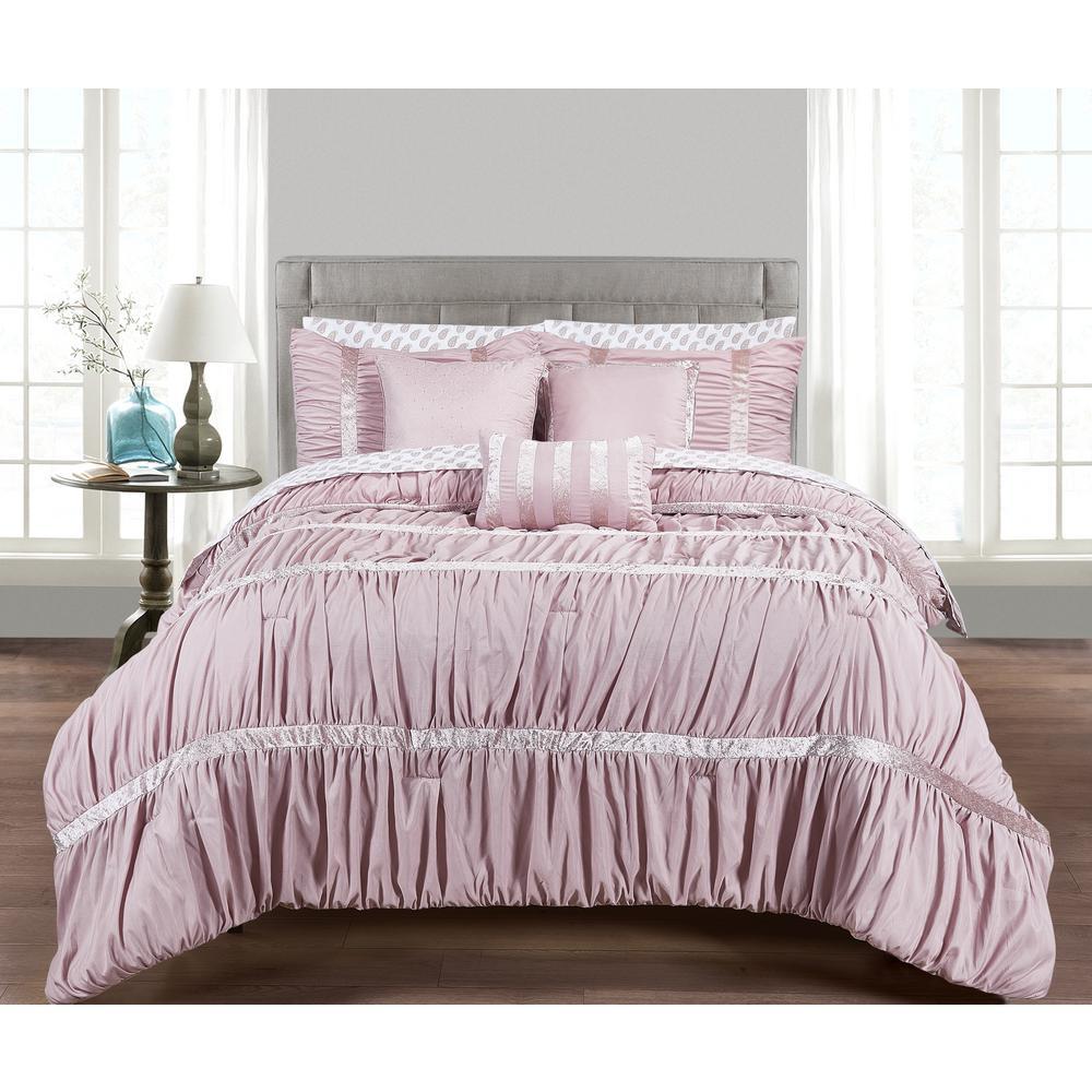 Morgan Home Francis 10-Piece Pink King Comforter Set