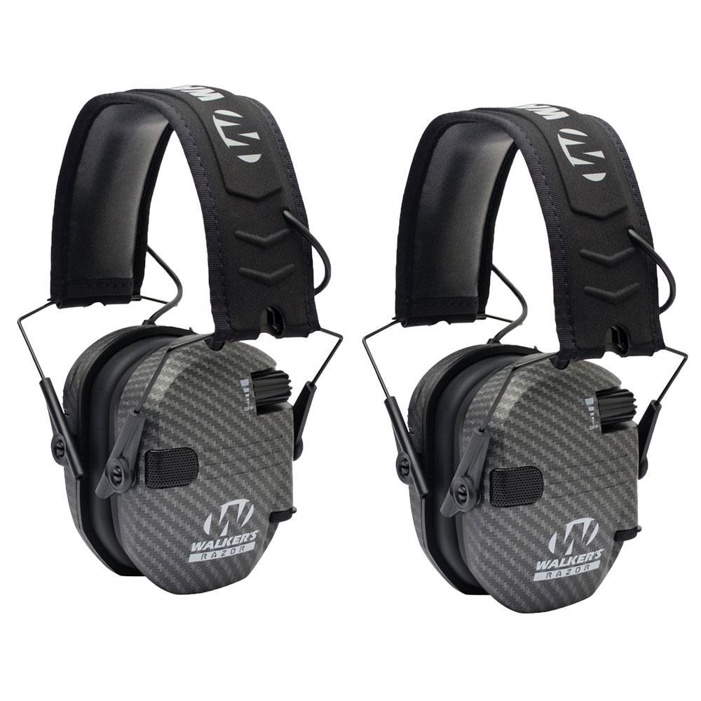Black Walker/'s Razor Slim Shooter Folding Muff Series Noise Reduction Earmuffs