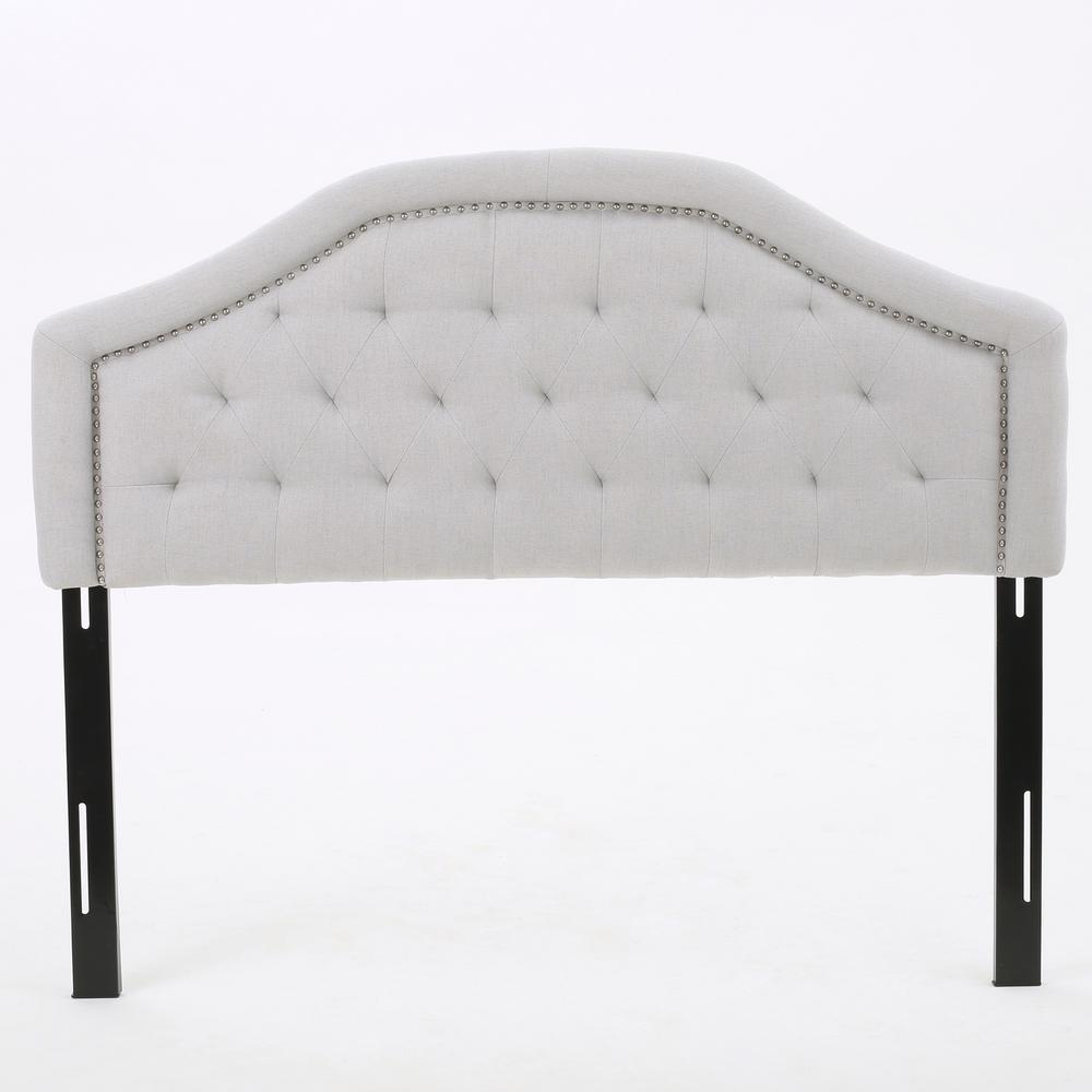Killian Light Grey Fabric Queen/Full Headboard
