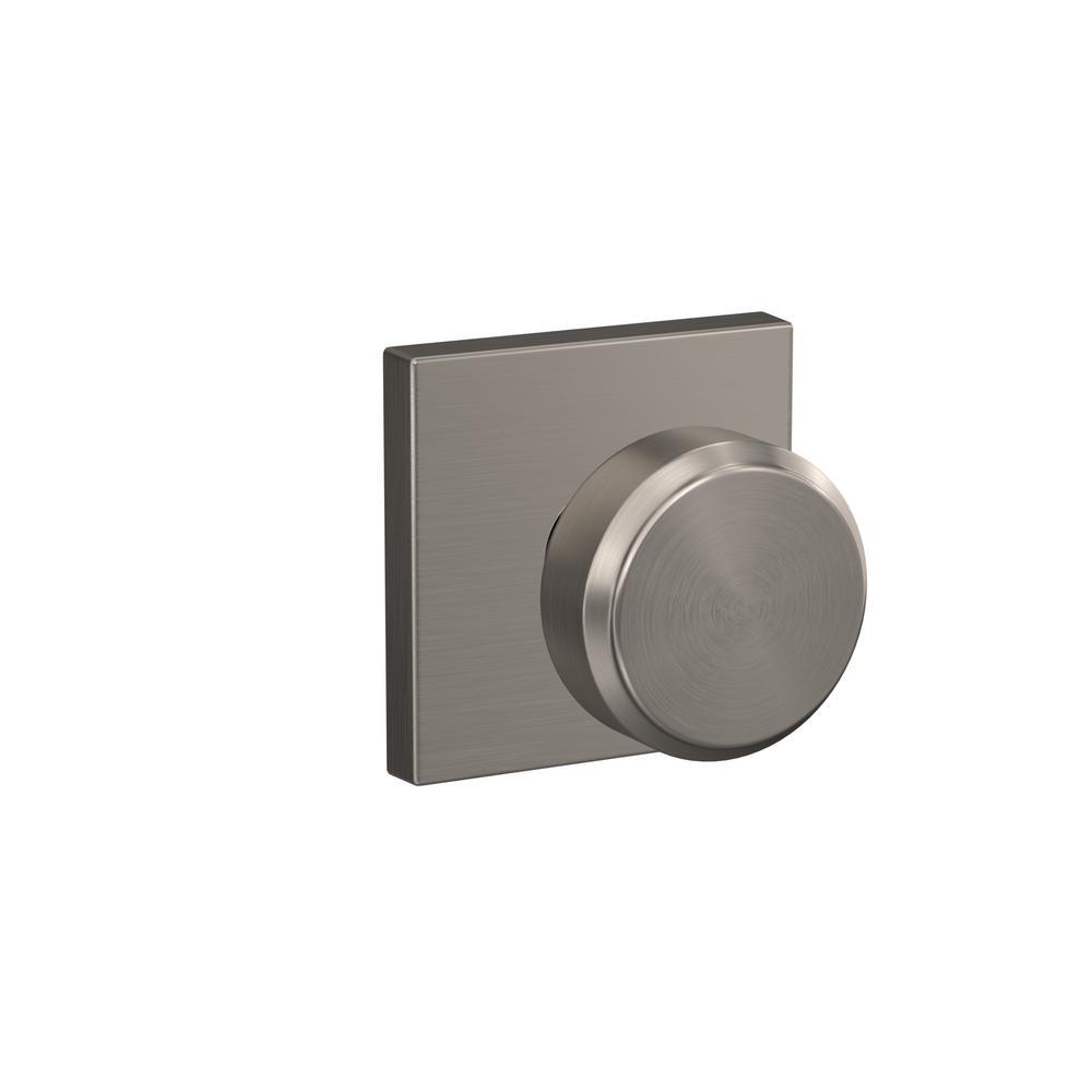 Schlage custom bowery satin nickel collins trim combined - Satin nickel interior door knobs ...