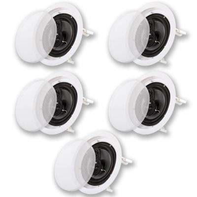 In-Ceiling 8 in. Home 5 Speaker Set 3 Way 1750-Watt