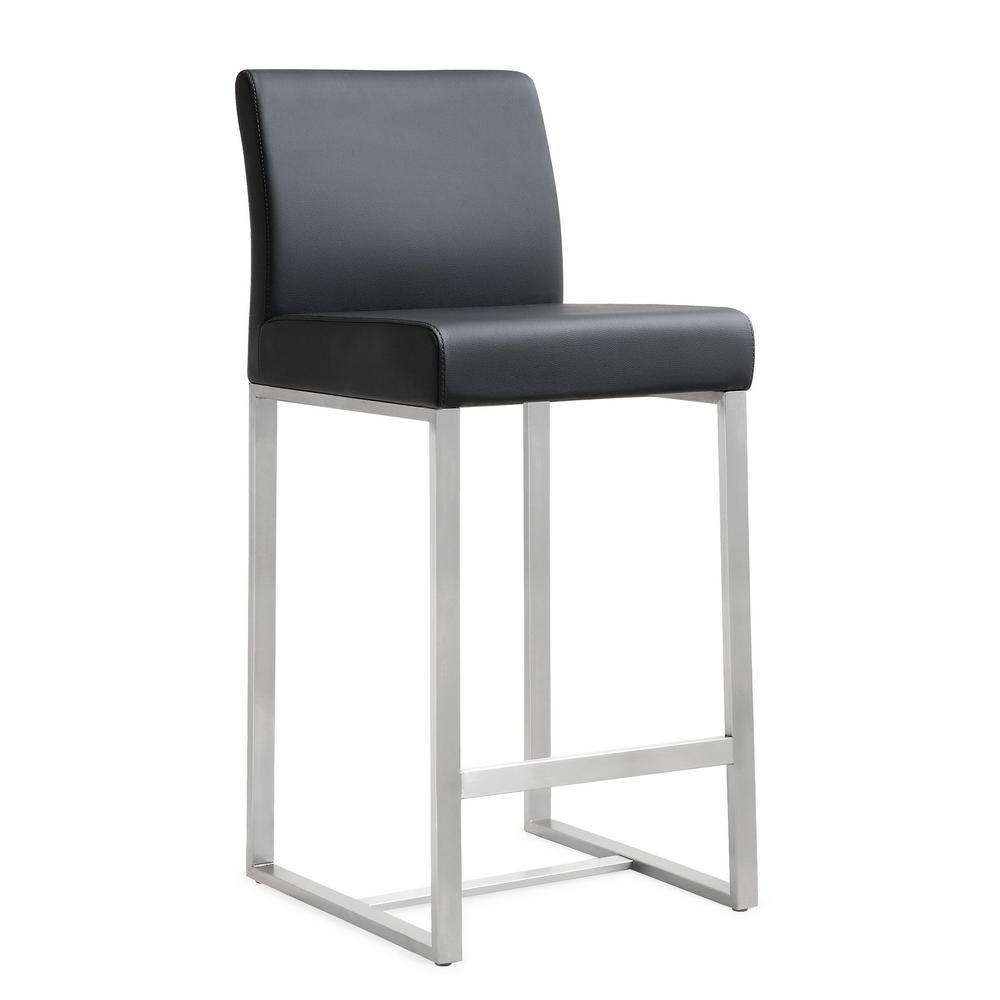 Delicieux TOV Furniture Denmark Black Steel Counter Stool (Set Of 2)