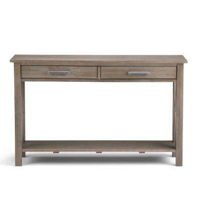 Kitchener Distressed Grey Storage Console Table