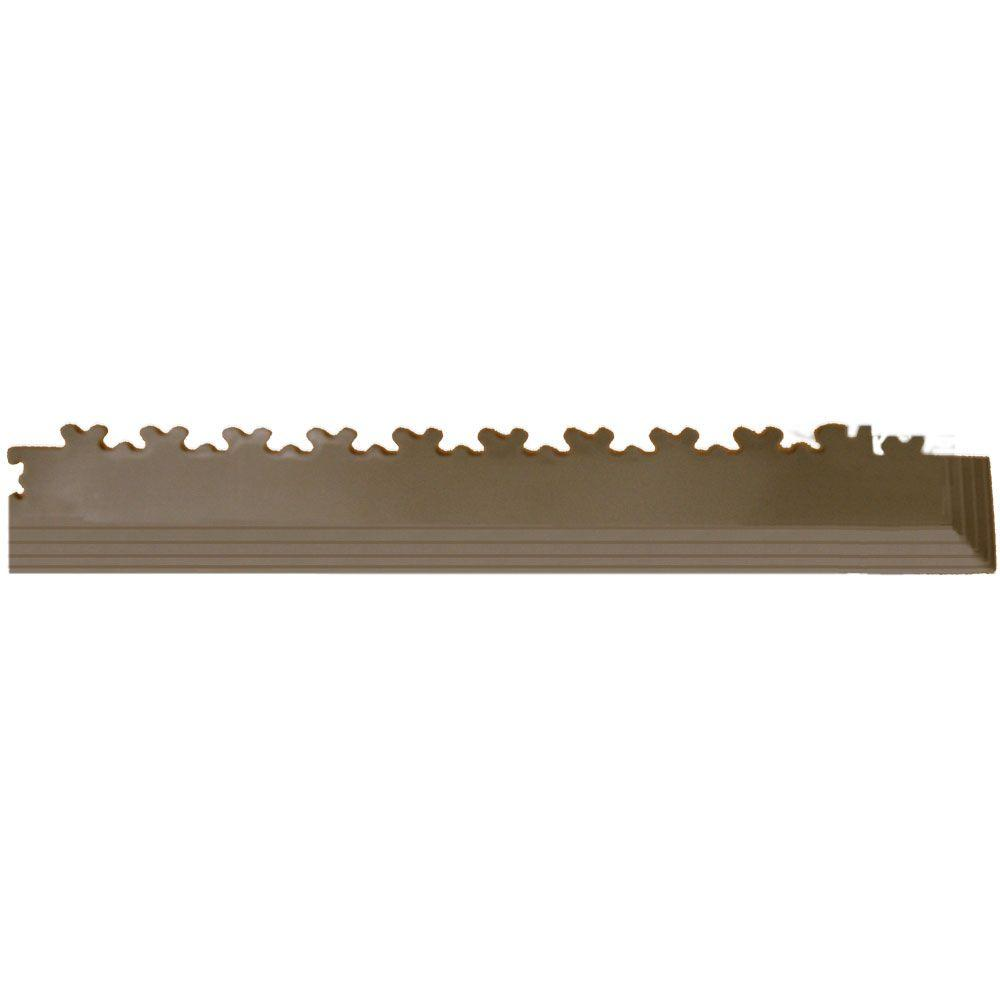 IT-tile 23 in. x 2-1/2 in. Diamond Plate Tan PVC Tapered Interlocking Multi-Purpose Flooring Tile Corners (4-Pack)