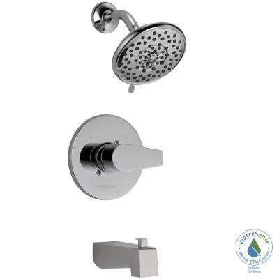 Xander 1-Handle Wall-Mount Tub and Shower Faucet Trim Kit in Chrome (Valve Not Included)