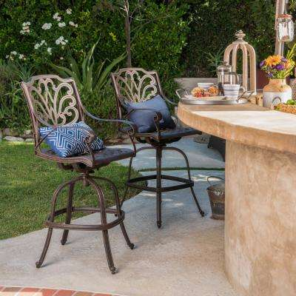 Cast Aluminum Outdoor Bar Stools Outdoor Bar Furniture The