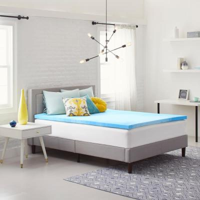 2 in. Gel-Infused Queen Size Memory Foam Mattress Topper