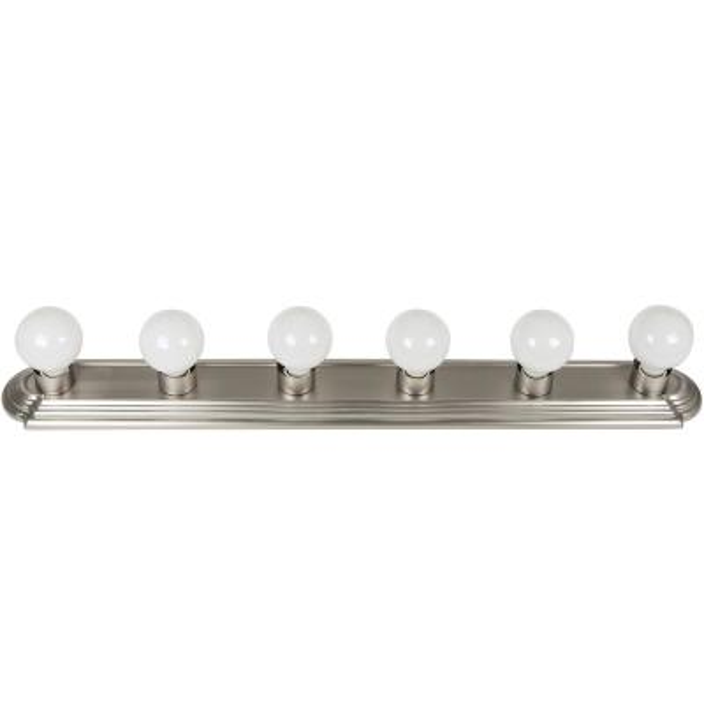 36 in. 6-Light Brushed Nickel Bath Vanity Light Bar Wall Fixture