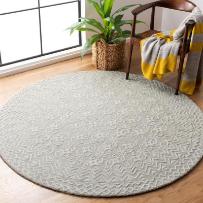 Blossom Gray/Ivory 6 ft. x 6 ft. Round Area Rug