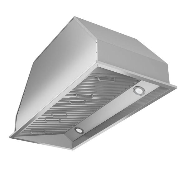 Chef Insert 34 in. Range Hood with LED in Stainless Steel