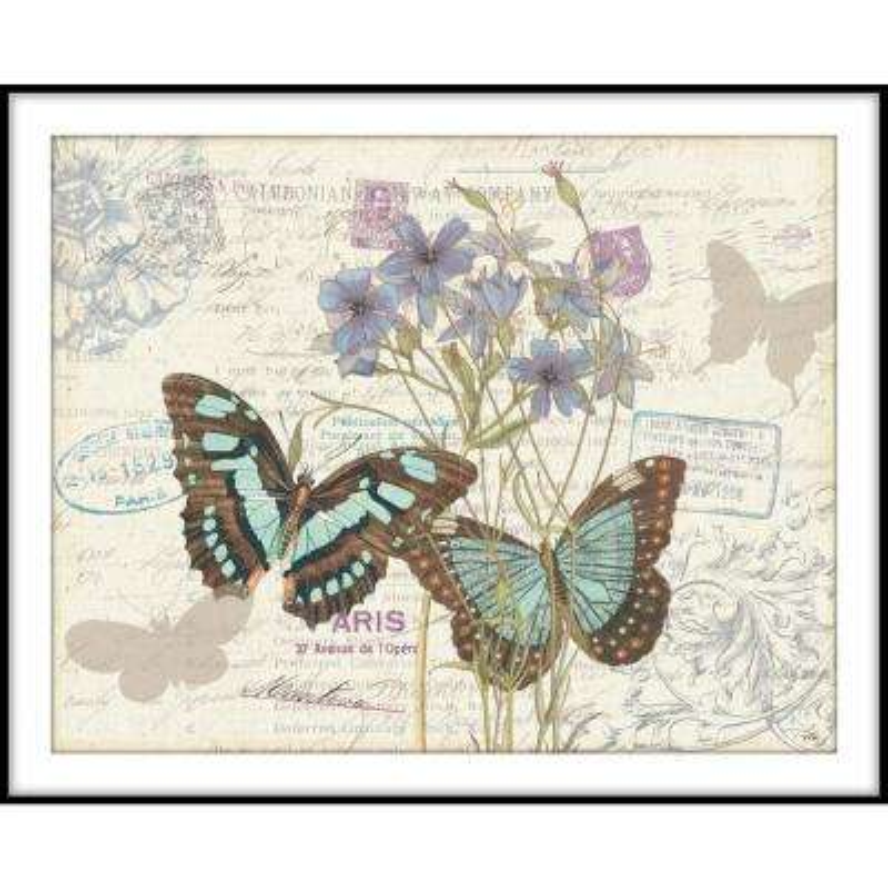 9.75 in.x11.75 in. ''Papillon Tales'' Framed Wall Art