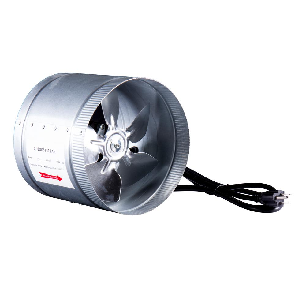 Hydro Crunch 420 Cfm 8 In Inline Duct Booster Fan For Indoor Garden Ventilation