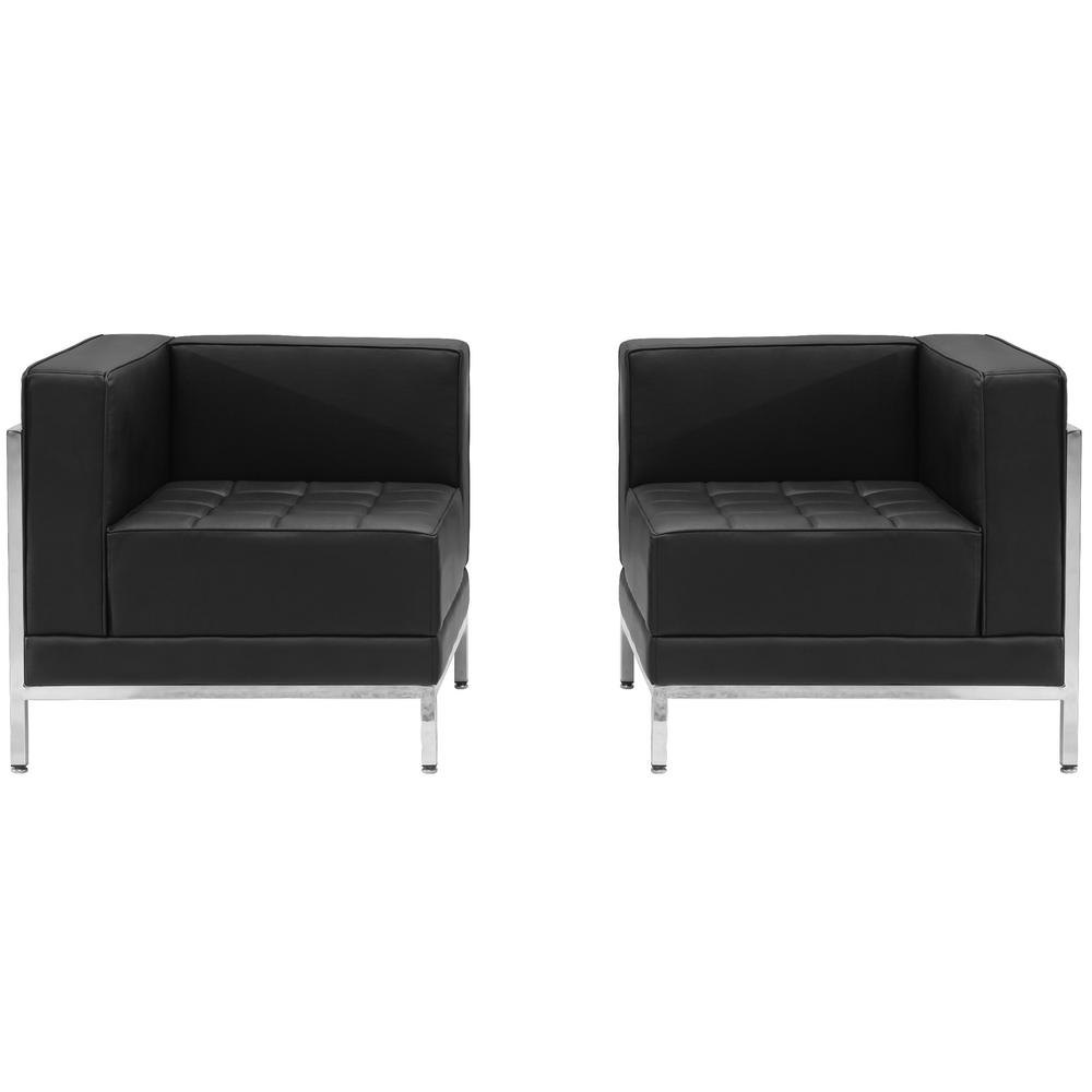 Flash Furniture Hercules Imagination Series 2-Piece Black Leather ...