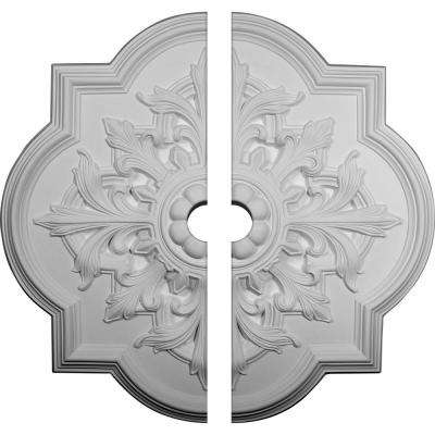 31-1/4 in. x 3 in. x 2 in. Bonetti Urethane Ceiling Medallion, 2-Piece (Fits Canopies up to 7-3/8 in.)