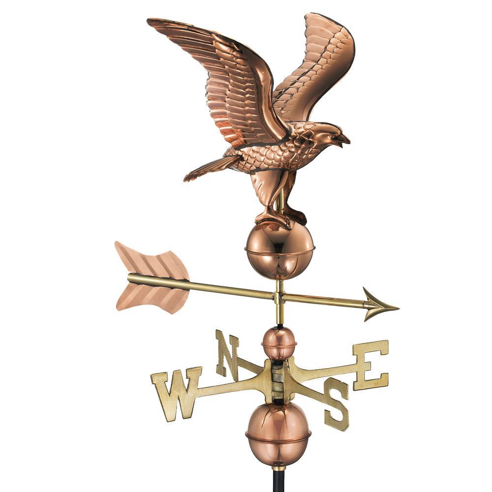 American Eagle Weathervane - Polished Copper