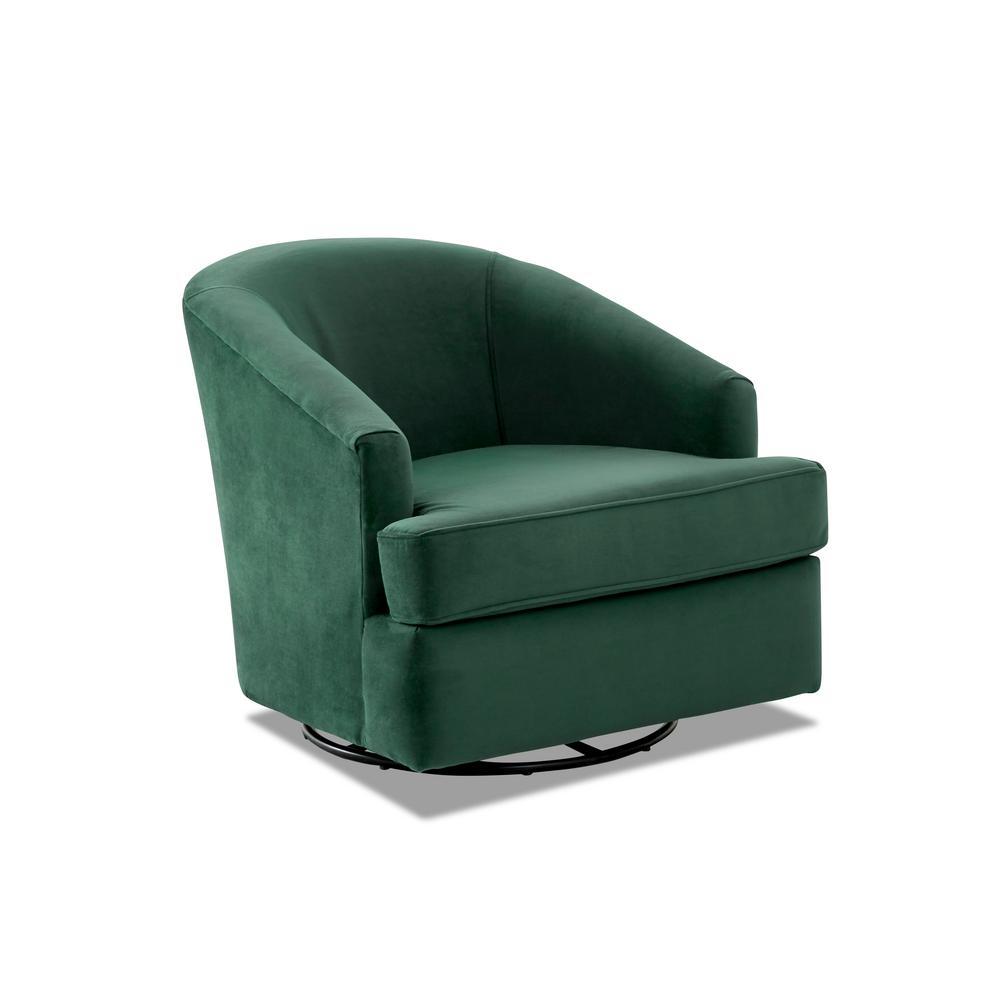 Lamar Swivel Gliding Hunter Accent Chair