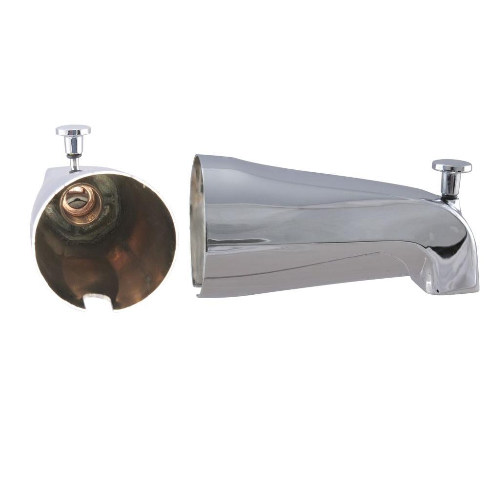 Westbrass 5-1/4 in. Front Diverter Tub Spout with Front IPS ...